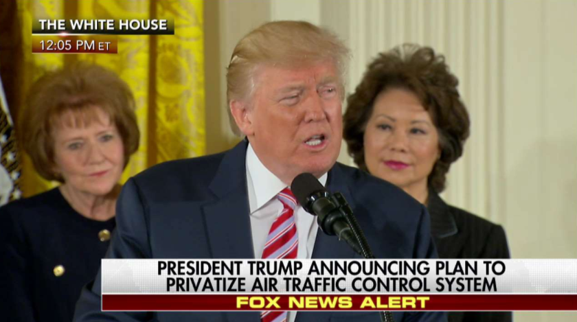 Trump unveils plan to privatize US air traffic control system