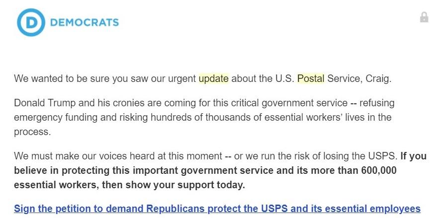 Democrats' E-mail Petition