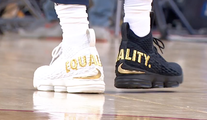 84446772fb61d LeBron James Wears  Equality  Shoes During D.C. Game