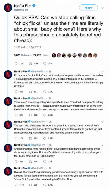 Stupid: Netflix Apparently Doesn't Want You to Call Chick Flicks 'Chick Flicks' Anymore