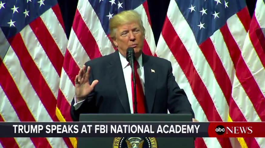 Trump speech FBI