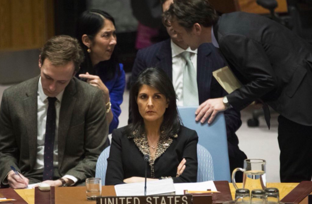 Haley at UN vote