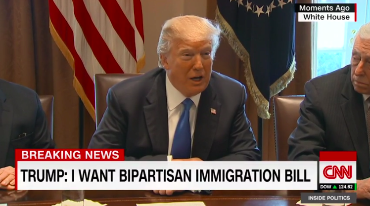 Trump at meeting with lawmakers