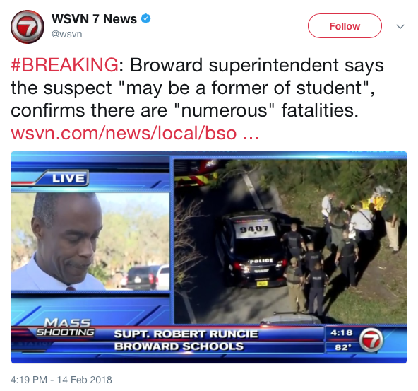 At Least Seven Students Injured Two Suspects In Custody: Shooting At A Florida High School Leaves 17 Dead, 15