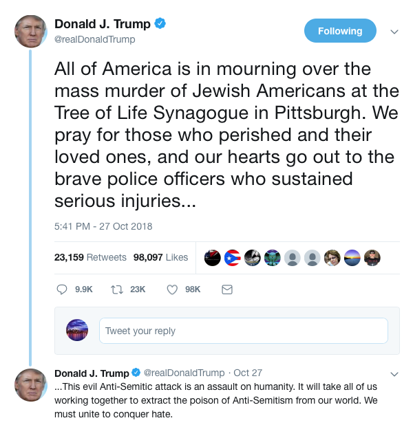 TrumpSynagogueTweet