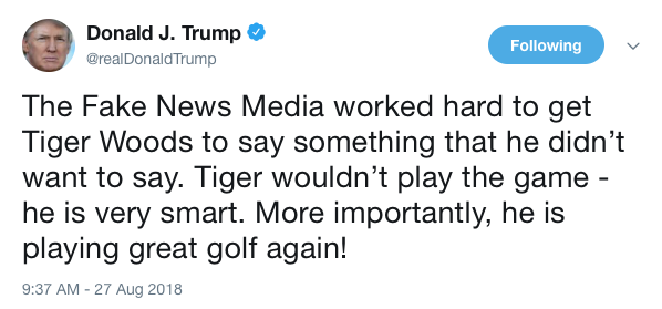 TrumpWoodsTweet