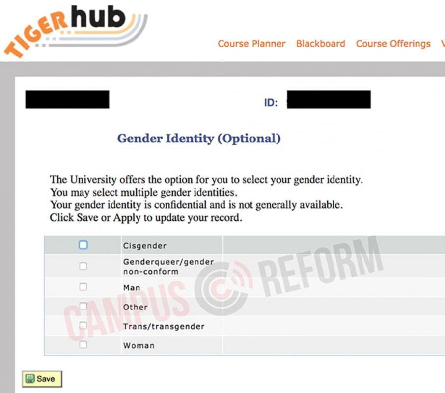 Gender Identity Form