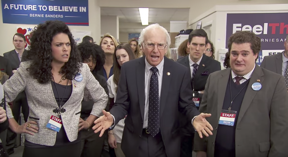 Larry David says he's related to Bernie Sanders