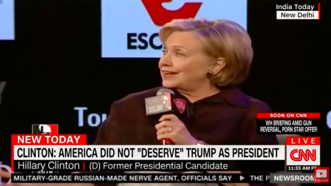 The Blame Game Continues: Hillary Clinton Says Male 'Pressure' Caused White Women to Vote for Trump