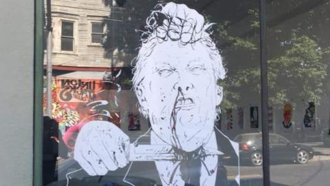 Portland Art Gallery Displays Window 'Art' of Trump Being Beheaded