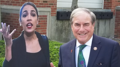 AOC Accuses the GOP of Sexism For 'Posing' Beside Her Likeness - Except It Was a Democrat