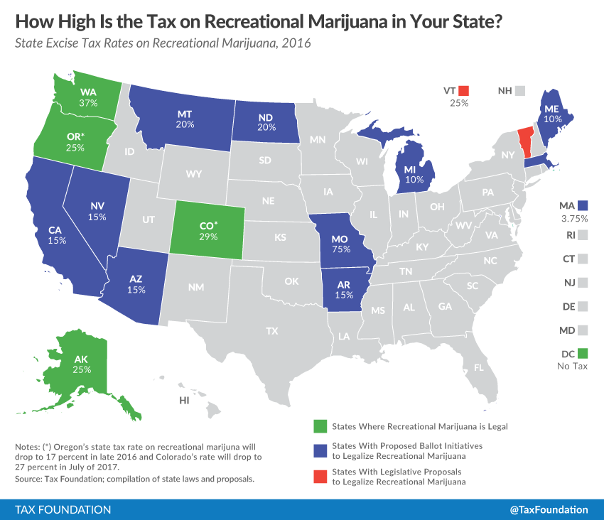 Colorado Income Tax Rate: Report: Marijuana Legalization Could Generate $28B In Tax