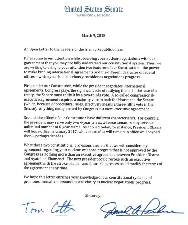 Obama Biden And Iran Slam Gop Senators For Nuclear Talk Sabotage