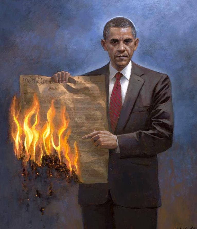 This Artist's Provocative Painting of Obama is Sure to Make Waves...