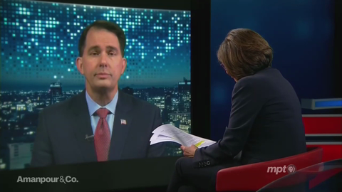 Amanpour Hits Scott Walker from Left on 'Voter Suppression'